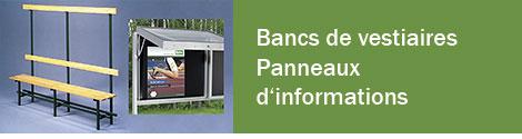 Bancs de vestiaires Panneaux d'informations