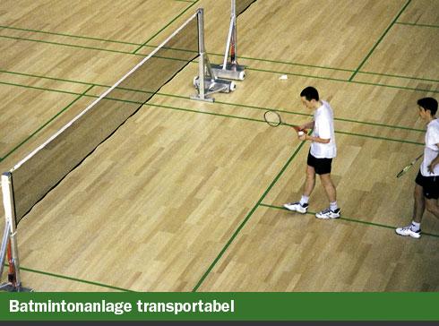 Badmintonanage transportabel