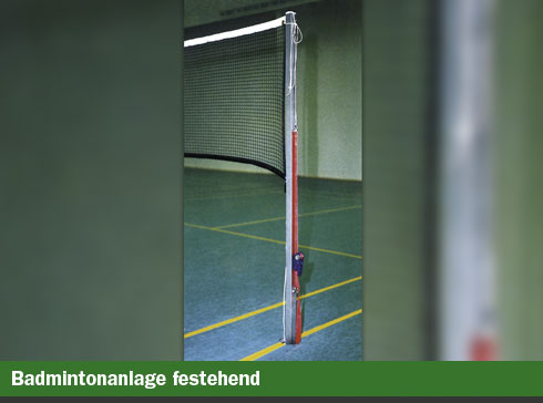 Badmintonanlage festehend