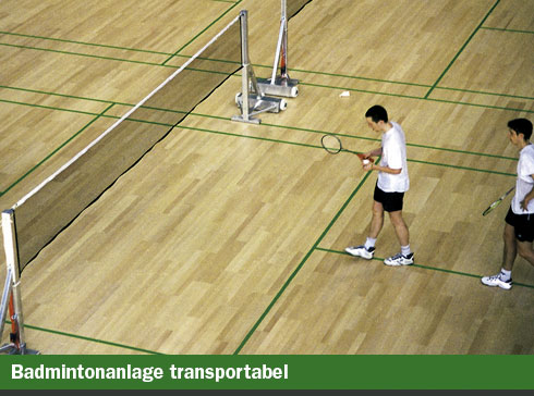 Badminton transportabel