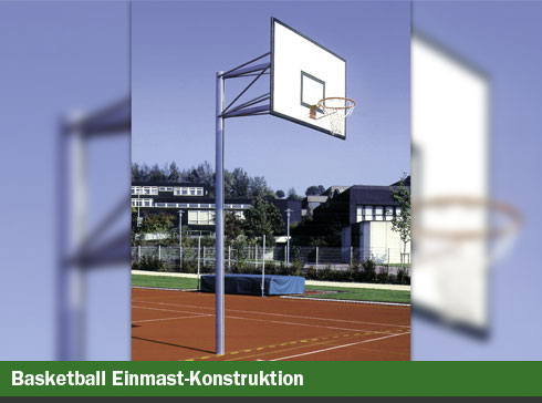 Basketball Einmast-Konstruktion
