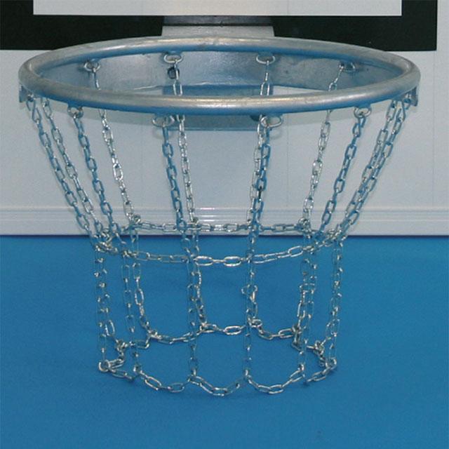 Basketballkorb, Stahl mit Kettennetz