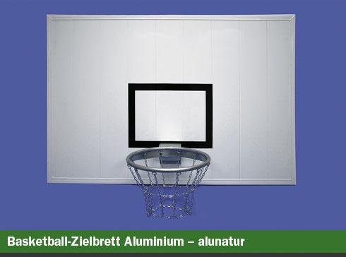 Basketball-Zielbrett Aluminium - alunatur