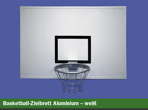 Basketball-Zielbrett Aluminium – weiß