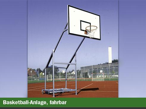 Basketball Anlage fahrbar