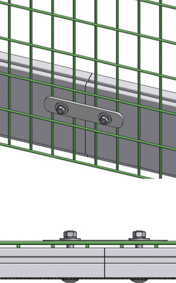 Befestigung für Stabgitter-Zaunanlagen