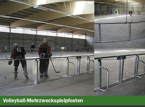 Inline-Skaterhockey Bandenkonstruktion