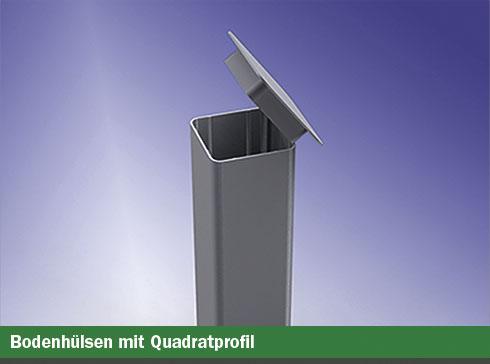 Spezial-Bodenhülsen mit Quadratprofil