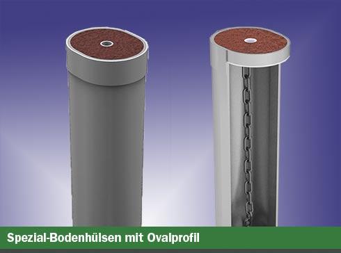Spezial-Bodenhülsen mit Ovalprofil