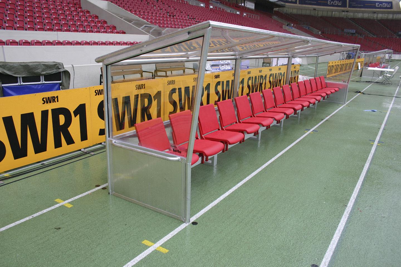 Spielerkabinen bei VfB Stuttgart